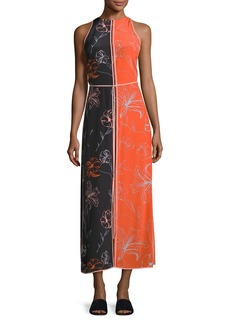 Diane von Furstenberg Sleeveless Paneled Floor-Length Dress