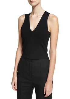 Diane Von Furstenberg Sleeveless Paneled Knit Blouse
