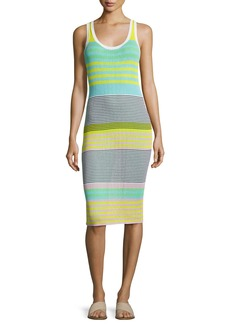 Diane von Furstenberg Sleeveless Rib-Knit Midi Dress
