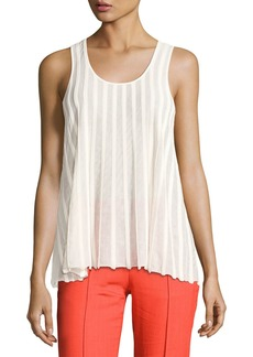 Diane Von Furstenberg Sleeveless Ribbed Top