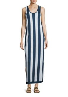 Diane von Furstenberg Sleeveless Striped Maxi Coverup Dress