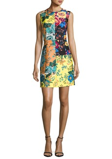 Diane von Furstenberg Sleeveless Tailored Paneled Shift Dress