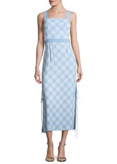 Diane von Furstenberg Sleeveless Tie-Side Printed Midi Dress