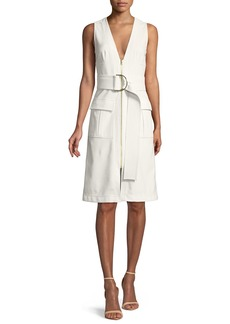 Diane von Furstenberg Sleeveless Zip-Front Knee-Length Dress