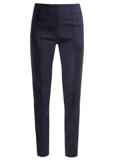 Diane Von Furstenberg Slim-leg linen-blend trousers