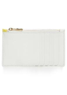 Diane von Furstenberg Small Leather & Genuine Snakeskin Card Case