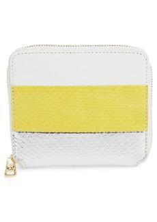 Diane von Furstenberg Small Leather & Genuine Snakeskin Zip Wallet