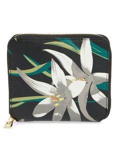 Diane von Furstenberg Small Leather Zip Wallet