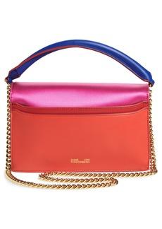 Diane von Furstenberg Soirée Satin & Leather Top Handle Bag