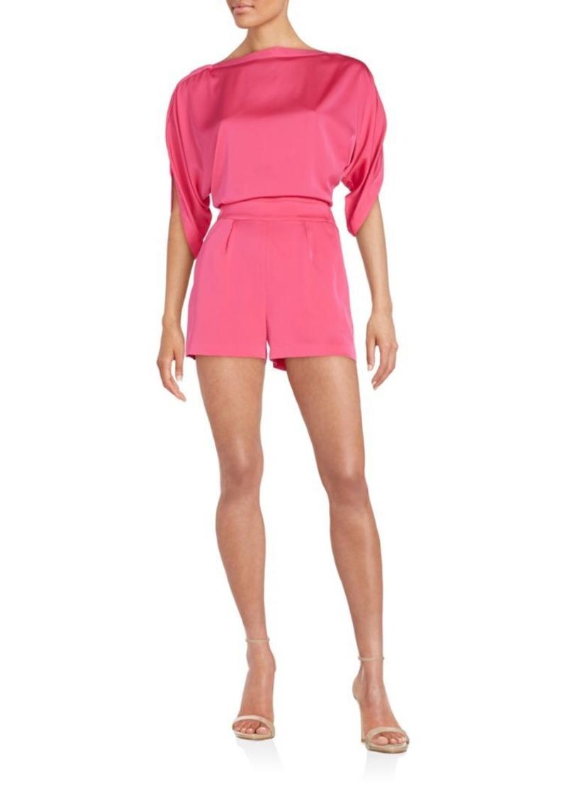 Diane von Furstenberg Soleil Open-Back Short Jumpsuit