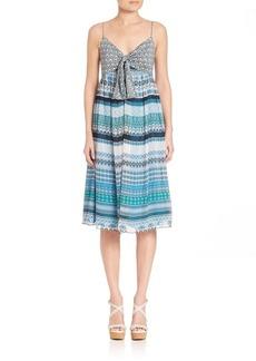 Diane von Furstenberg Silk Square Stamps Malina Dress