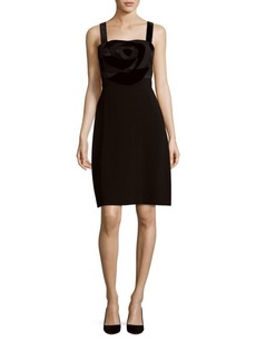 Diane von Furstenberg Squareneck & Back Solid Dress