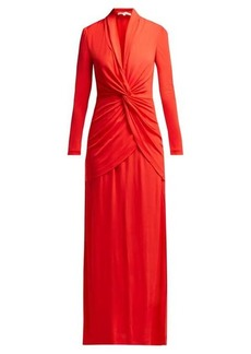 Diane Von Furstenberg Stacia V-neck knotted crepe dress