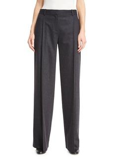 Diane von Furstenberg Stanton Wide-Leg Stretch-Wool Pants