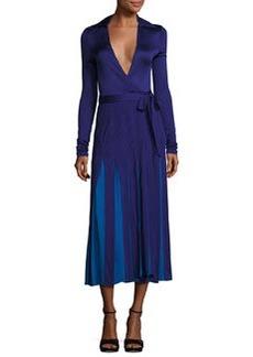 Diane von Furstenberg Stevie Colorblock Midi Wrap Dress