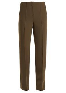 Diane Von Furstenberg Straight-leg crepe trousers