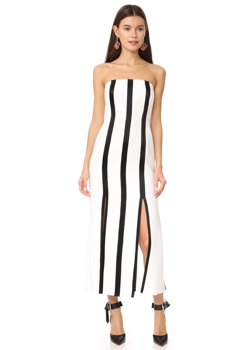 Diane Von Furstenberg Strapless Structured Midi Dress