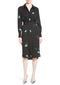 Diane von Furstenberg Stretch Silk Shirtdress