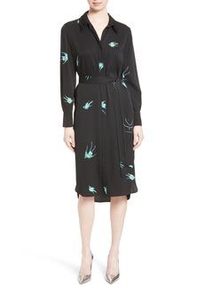 Diane von Furstenberg Stretch Silk Shirtdress