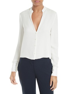 Diane von Furstenberg Stretch Silk V-Neck Blouse