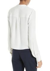 Diane von Furstenberg Stretch Silk V-Neck Blouse
