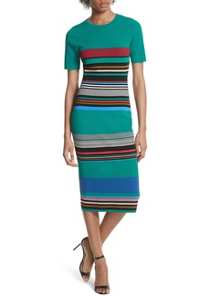 Diane von Furstenberg Stripe Short Sleeve Sweater Dress