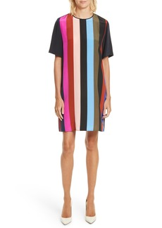 Diane von Furstenberg Stripe Silk Shift Dress