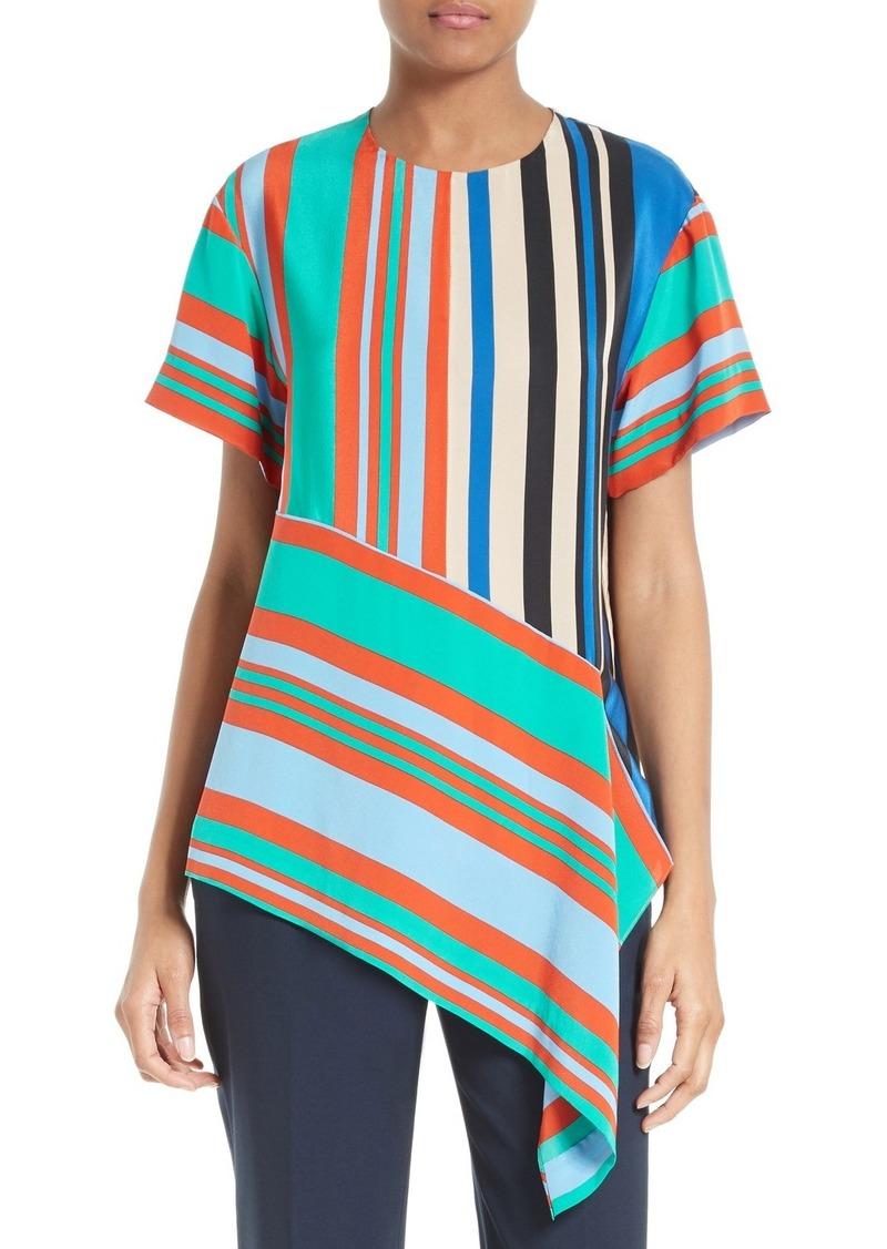 83cd0b5e9b166 Diane Von Furstenberg Diane von Furstenberg Stripe Silk Top