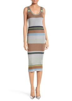 Diane von Furstenberg Stripe Tank Midi Dress