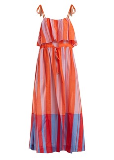 Diane Von Furstenberg Striped cotton and silk-blend maxi dress