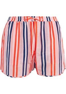 Diane von Furstenberg Striped cotton and silk-blend shorts