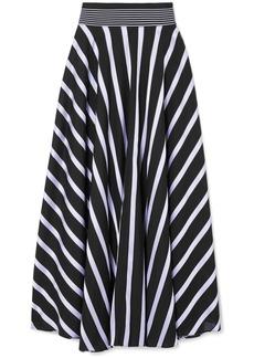 Diane Von Furstenberg Striped Cotton-blend Maxi Skirt
