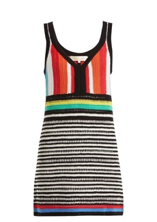 Diane Von Furstenberg Striped crochet-knit cotton dress