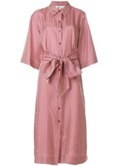 Diane Von Furstenberg striped midi shirt dress - Red