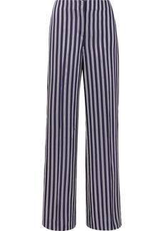 Diane Von Furstenberg Striped satin-twill wide-leg pants