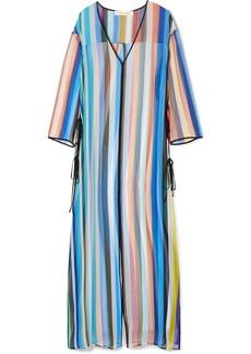 Diane Von Furstenberg Striped silk-chiffon tunic