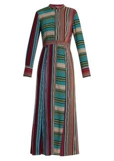 Diane Von Furstenberg Striped silk shirtdress
