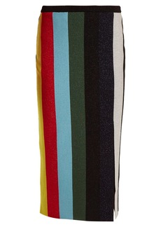 Diane Von Furstenberg Striped stretch-knit pencil skirt