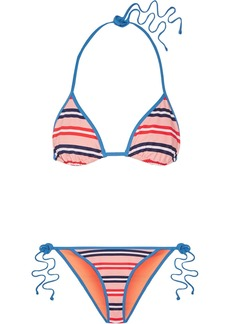 Diane Von Furstenberg Striped triangle bikini