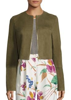 Diane von Furstenberg Suede Cropped Jacket