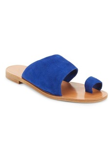 Diane von Furstenberg Suede Slip-On Sandals