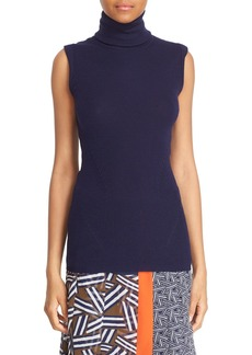 Diane von Furstenberg 'Sutton' Sleeveless Merino Wool & Silk Turtleneck