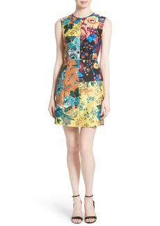 Diane von Furstenberg Tailored Floral Shift Dress