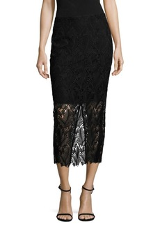 Diane Von Furstenberg Tailored Overlay Pencil Skirt
