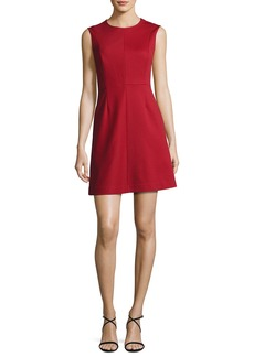 Diane von Furstenberg Tailored Sleeveless A-Line Dress