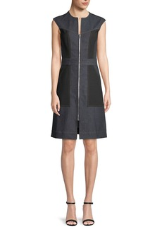 Diane von Furstenberg Tailored Sleeveless Zip-Front Dress
