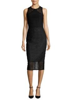 Diane von Furstenberg Tailored Twig Lace Dress