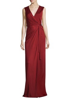 Diane von Furstenberg Taley Sleeveless Maxi Wrap Dress