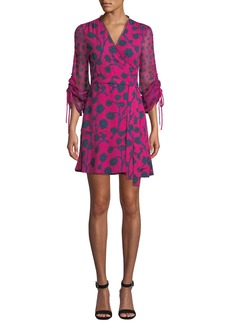 Diane von Furstenberg Tamra Floral-Print Long-Sleeve Wrap Dress