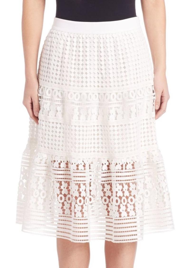 Diane Von Furstenberg Tiana Floral-Lace Skirt